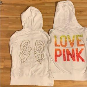 PINK Victoria Secret Full Zip-Up Hoodies